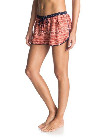 Run Away Beach Shorts - RoxyЖенские шорты Run Away Beach от ROXY. <br>ХАРАКТЕРИСТИКИ: тканое полотно с принтом, эластичный пояс, идеальный вариант для поездки на пляж, передние карманы.<br>СОСТАВ: 100% вискоза.<br>