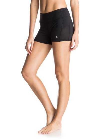 Breathless Running shortsЖенские шорты Breathless Running от ROXY.ХАРАКТЕРИСТИКИ: дышащий текстиль, изделие быстро высыхает, на ощупь как хлопок, боковые сеточные вставки.СОСТАВ: 87% нейлон, 13% эластан.<br>