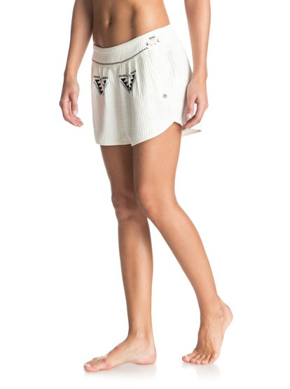 Flying Birds - Embroidered Shorts<br>