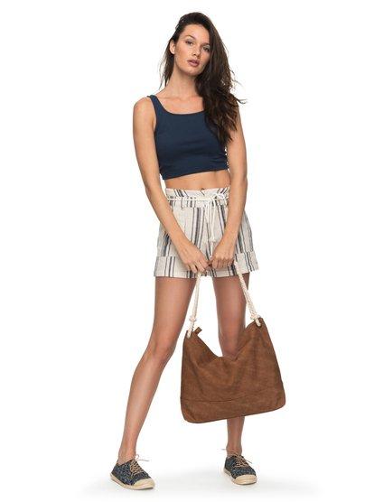 San Salvador Stripy - Linen Shorts  ERJNS03149