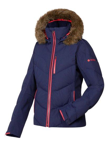 Snowstorm JkЖенская сноубордическая куртка Roxy из зимней коллекции технологичной спортивной одежды 2014. Характеристики: водостойкая мембрана DRY-FLIGHT 15K (15 / 10), утеплитель 600 Fill Power (наполнитель: пух и перья).<br>