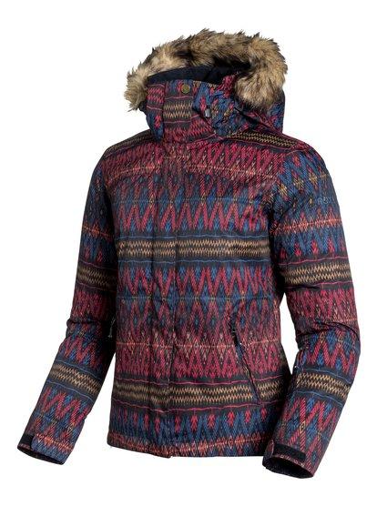 Jet SkiЖенская сноубордическая куртка Jet Ski из сноубордической коллекции Roxy. ХАРАКТЕРИСТИКИ: критические швы проклеены, капюшон с регулировкой, съемный капюшон, капюшон со съемной меховой оторочкой, противоснежная юбка из тафты. СОСТАВ: 100% полиэстер.<br>