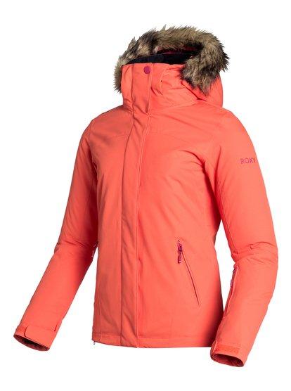 Jet Ski SolidЖенская сноубордическая куртка Jet Ski Solid из сноубордической коллекции Roxy. ХАРАКТЕРИСТИКИ: критические швы проклеены, капюшон с регулировкой, съемный капюшон, капюшон со съемной меховой оторочкой, противоснежная юбка из тафты. СОСТАВ: 100% полиэстер.<br>