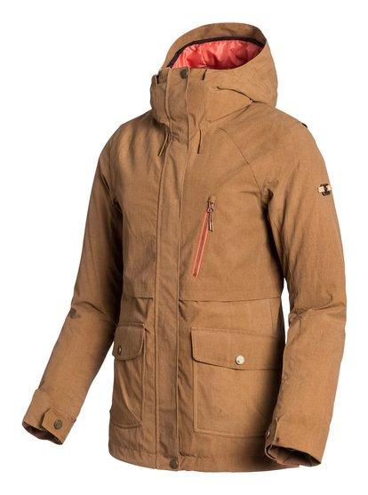 TribeЖенская сноубордическая куртка Tribe из сноубордической коллекции Roxy. ХАРАКТЕРИСТИКИ: критические швы проклеены, капюшон с регулировкой, противоснежная юбка из тафты, система прикрепления штанов к куртке, защита подбородка от натирания. СОСТАВ: 100% нейлон.<br>