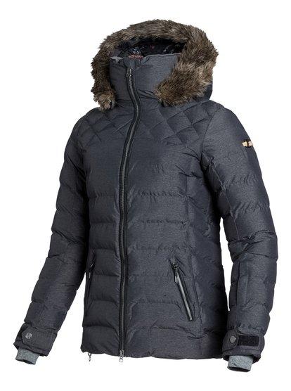 QuinnЖенская сноубордическая куртка Quinn из сноубордической коллекции Roxy. ХАРАКТЕРИСТИКИ: капюшон с регулировкой, съемный капюшон, капюшон со съемной меховой оторочкой, противоснежная юбка из тафты, система прикрепления штанов к куртке. СОСТАВ: 70% нейлон, 30% полиэстер.<br>