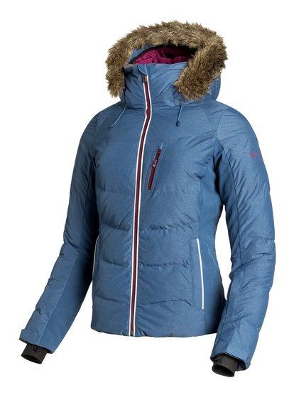 SnowstormЖенская сноубордическая куртка Snowstorm из сноубордической коллекции Roxy. ХАРАКТЕРИСТИКИ: капюшон с регулировкой, съемный капюшон, съемная меховая оторочка, фиксированная эластичная противоснежная юбка, отстегивающаяся противоснежная юбка. СОСТАВ: 73% нейлон, 27% полиэстер.<br>