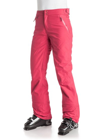 Сноубордические штаны MontanaCrafted with 20K ROXY DryFlight® technology breathable waterproofing for the maximum level of protection in extremely wet and stormy winter conditions, the Montana snow pants for women are ideal for highly active mountain riders. A flattering high waist, articulated knees and a cool straight leg ensure comfort and warmth with the style-savvy straight fit. Top tech comes in the form of PrimaLoft® Black Insulation Eco, fully-sealed seams for all-over protection and waist adjusters for a snug fit.<br>