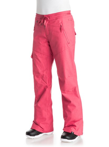 Сноубордические штаны TonicFit loose for a relaxed cargo look, the Tonic snow pants for girls complete the look with patched side pockets and a drawcord adjuster on the waist. Crafted with 10K ROXY DryFlight® technology waterproofing for reliable waterproof and breathable protection in a wide range of winter conditions. An easy-to-wear regular fit allows space to layer and is complemented by Warmflight® level 2 insulation for low-bulk warmth, lightweight, breathable taffeta, and critically-taped seams for extra protection in the most exposed areas.<br>