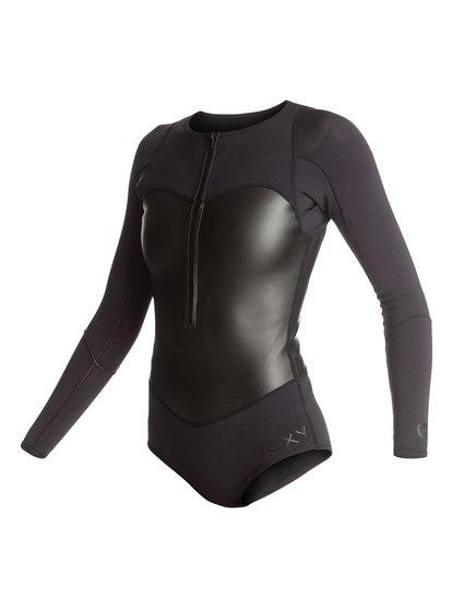 Короткий женский гидрокостюм Pop Surf 1mm с длинным рукавом и нагрудной молнией