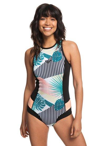 1mm POP Surf - Back Zip Bikini Cut Shorty for Women - Noir - Roxy