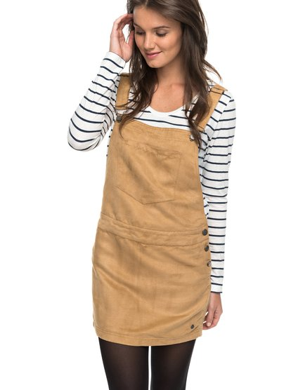 Chase The Sun - Faux-Suede Dungaree Dress  ERJWD03159