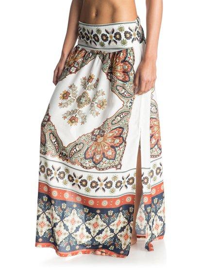 Womens Lola Maxi SkirtЖенская юбка «макси» Lola от ROXY. <br>ХАРАКТЕРИСТИКИ: присборенный дизайн, тканое полотно, длина «в пол», боковые прорези. <br>СОСТАВ: 100% вискоза.<br>