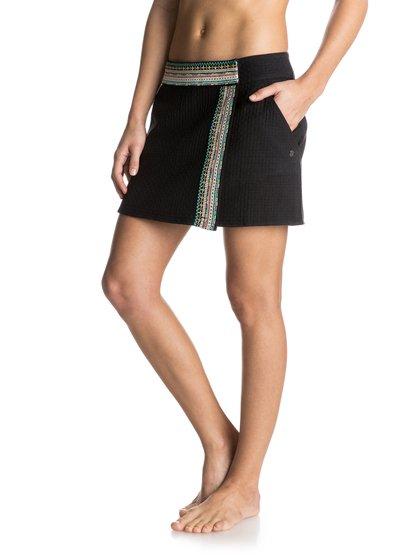 Womens Black Canyon SkirtЖенская юбка Black Canyon от ROXY.ХАРАКТЕРИСТИКИ: тканое полотно, короткая длина, этнические узоры.СОСТАВ: 100% хлопок.<br>