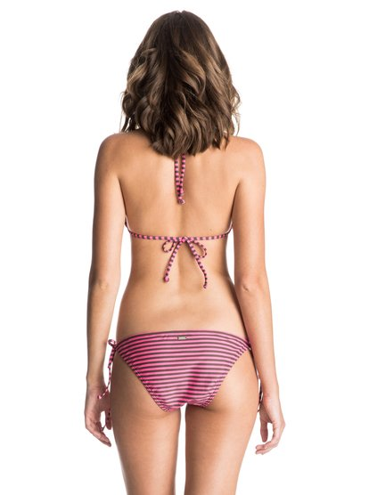 Womens Basic Seaside  Bikini SetЖенское бикини (комплект) Basic Seaside от ROXY. <br>ХАРАКТЕРИСТИКИ: Tiki Tri и Tie Side Scooter (верх и низ), средняя площадь ткани, съемные чашечки, малая площадь ткани. <br>СОСТАВ: 80% нейлон/полиамид, 20% эластан.<br>