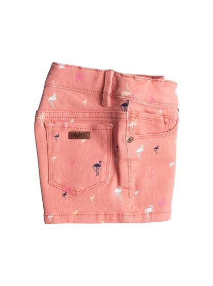 Girls Midnight Souls Denim ShortsДжинсовые шорты для девочек Midnight Souls от ROXY. <br>ХАРАКТЕРИСТИКИ: сплошной принт, удобная эластичная ткань, кожаная нашивка ROXY на заднем кармане. <br>СОСТАВ: 98% хлопок, 2% эластан.<br>