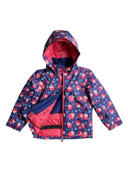 Сноубордическая куртка Mini JettyRoxy и «Улица Сезам» в этом сезоне представляют совместную коллекцию катальной экипировки, главным героем которой стал всеобщий любимец Элмо! Забавные и функциональные вещи, дополненные размерной системой «на вырост» и креплениями для варежек (чтобы ребенок их не потерял), понравятся и взрослым, и молодым талантам.<br>