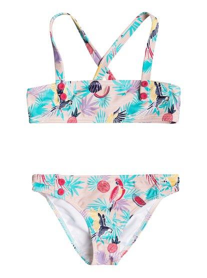 Vintage Tropical - Bandeau Bikini Set  ERLX203048