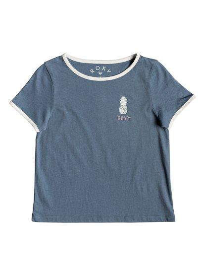 Times Up A - T-shirt pour Fille 2-7 ans - Bleu - Roxy