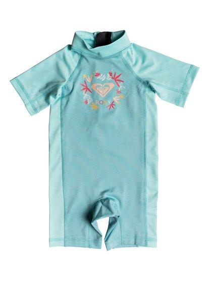 Roxy Baby ROXY Springsuit - Short Sleeve One-Piece UPF 50 Rashguard for Baby Girls - Blue - Roxy