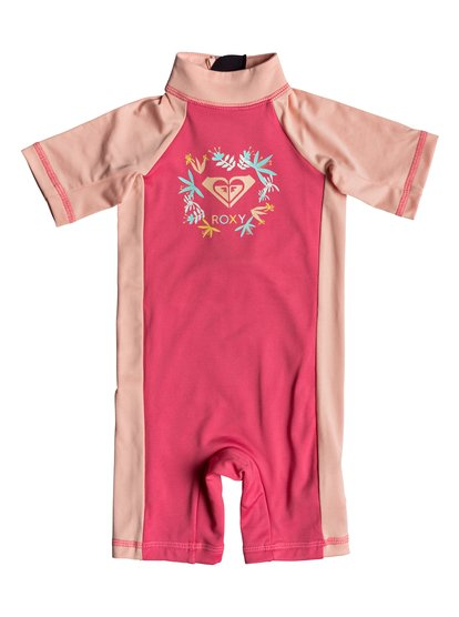 Roxy Baby ROXY Springsuit - Short Sleeve One-Piece UPF 50 Rashguard for Baby Girls - Pink - Roxy