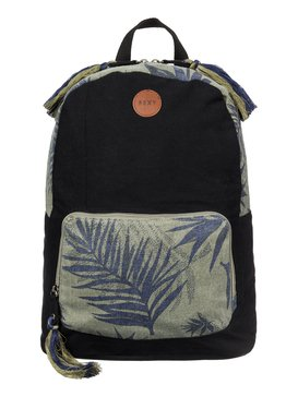 Primary - Printed Canvas Backpack  ARJBP03142