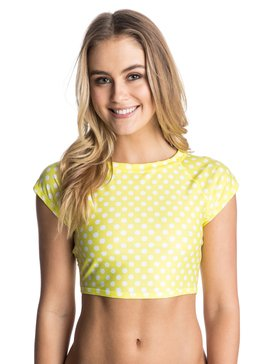 Optic Nature short sleeve Crop Rash Vest  ARJWR03025