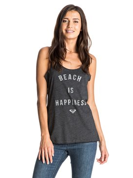 HAPPY BEACH RACERBACK TANK Black ARJZT03983