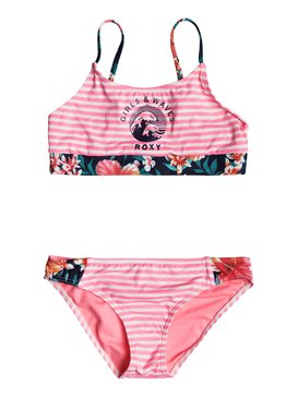 ROXY WAVES CROP BRA SET  ERGX203110