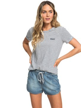Music Never Stop - Denim Beach Shorts  ERJDS03152