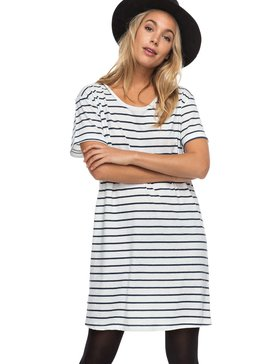 Just Simple Stripe - Short Sleeve T-Shirt Dress  ERJKD03131