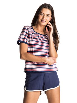 Call The Sun Stripes - Scoop Neck T-shirt  ERJKT03326