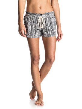 Oceanside Printed - Linen Blend Shorts  ERJNS03073