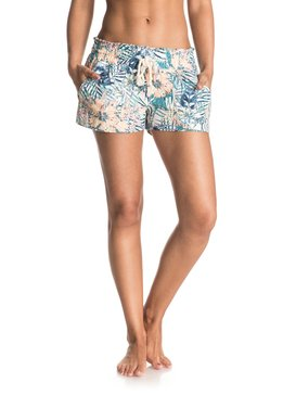 Oceanside Printed - Linen Blend Shorts  ERJNS03073