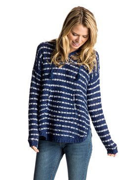 Smoke Signal Stripe - Hooded Poncho  ERJSW03196
