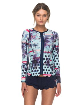 1mm Pop Surf Scallop - Long Sleeve Neoprene Front Zip Jacket  ERJW803012