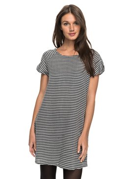 Peak Moments Striped - Short Sleeve Dress  ERJWD03169