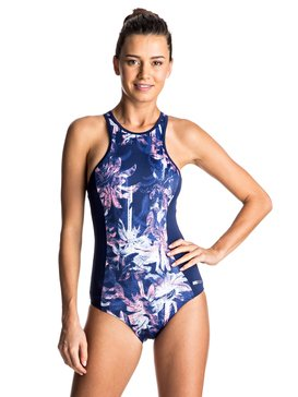 Keep It ROXY - Back Zip One-Piece Swimsuit  ERJX103060