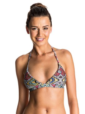Poetic Mexic' - Reversible Fixed Tri Bikini Top  ERJX303384