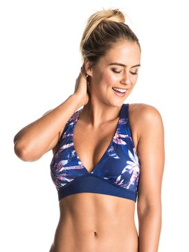 Keep It ROXY - Sporty 70'S Halter Bikini Top  ERJX303401