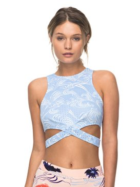 Pop Surf - High Neck Crop Bikini Top  ERJX303491