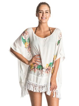 EMBROIDERY STAMP PONCHO Blanco ERJX603038