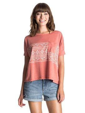 Boxy Pocket Boho Border - T-Shirt  ERJZT03365