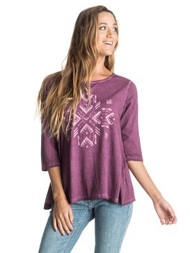 Waikiki Break Center Of Earth - 3/4 Sleeve Top  ERJZT03572