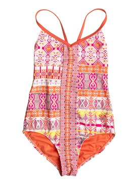 Girl's 7-14 Moroccan Mirage One Piece Swimsuit Orange RRF68617
