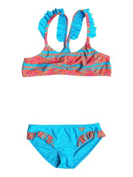 Girl's 2-6 Moroccan Stripes Flutter Set Blue RRF68926