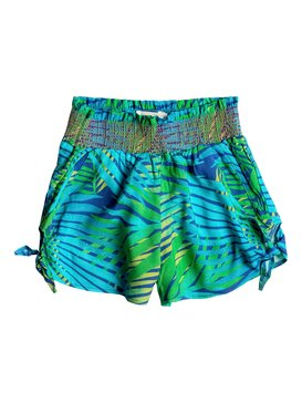 Girls 2-6 White Palm Shorts Green RRM65186