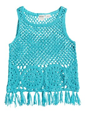 Girls 7-14 White Wash Tank  RRM66007