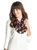 Care For Flair - Printed Infinity Scarf for Women - Roxy
