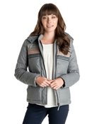 Freedom Stripe - Padded Puffa Jacket for Women - Roxy