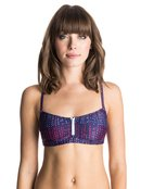 Caribbean Sunset - Zip Bikini Top for Women - Roxy